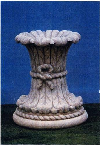 Colonna a foglie con fiocco piccola colonne arredo da for Colonne da giardino